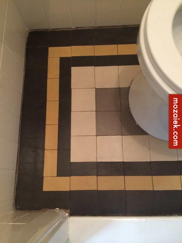 jaren 30 tegels vloer toilet