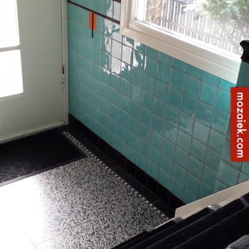 Wonderlijk mozaiekmix op maat | jaren 30 tegels in de badkamer | tegels anno OU-59