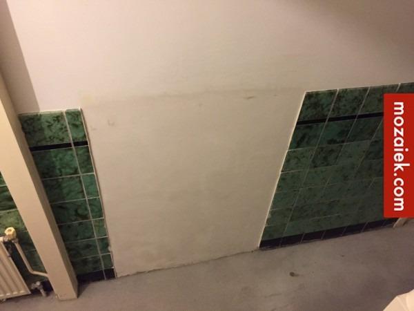 Hoogte Sierstrip Badkamer : Deur naar kamer dicht gemaakt jaren 30 tegels tegels anno 1900