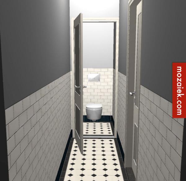 Voorbeeld uitwerken 3d views gang toilet tegels anno for Tekenprogramma bouw