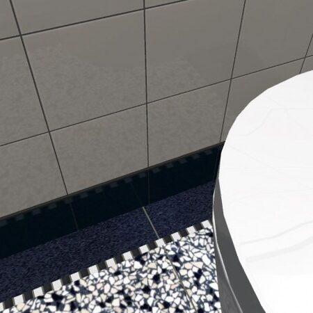 zwart wit marmer blokjes voor granito vloer