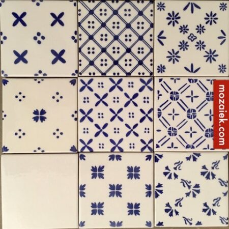 doosje 24 stuks wandtegels delftware 10,5×10,5 MIX 3×8