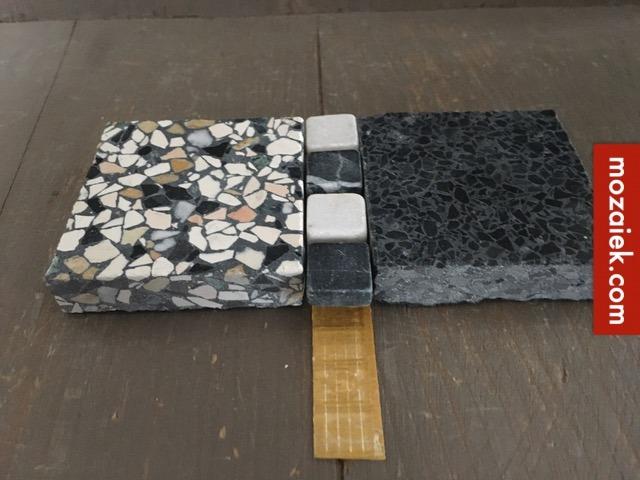 Zwart Wit Tegels.Sample Set Granito Vloertegels Licht Bont Antraciet En Zwart Wit Blokjes Voor Een Klassieke Jaren 30 Vloer Tegels Anno 1900 1930