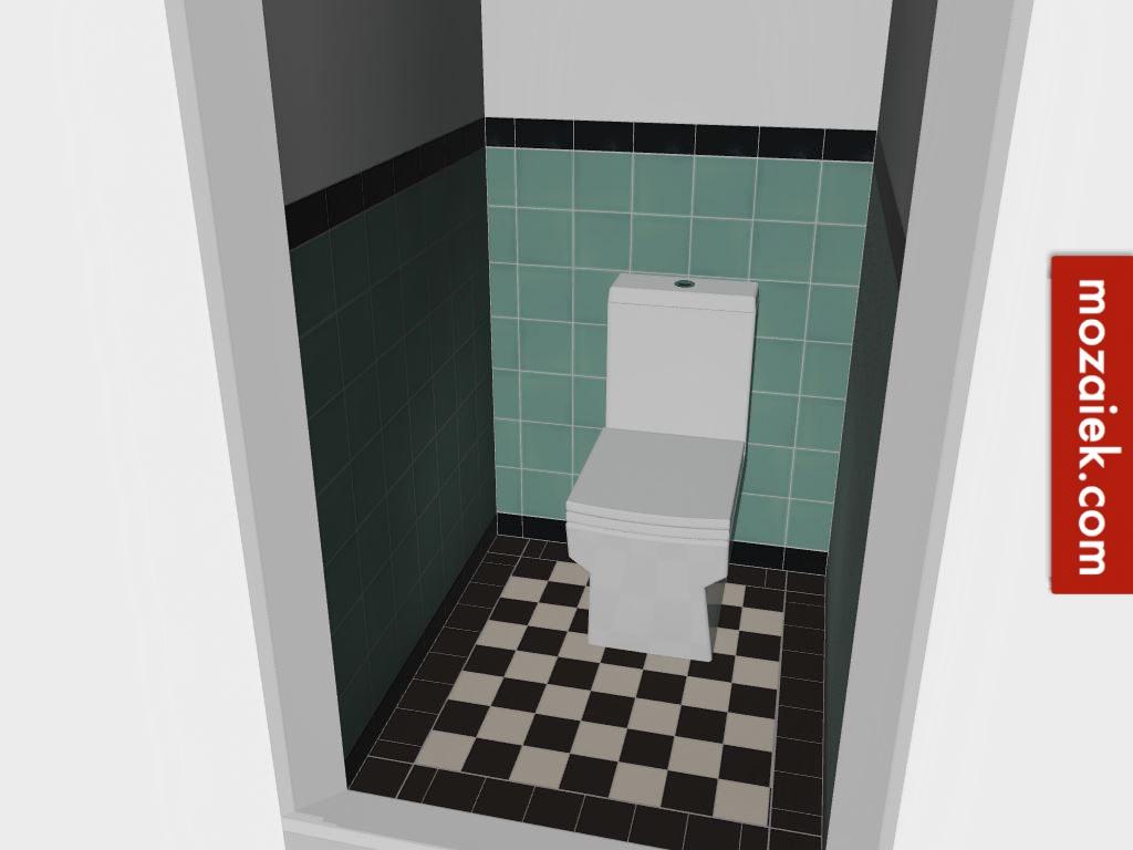 Zwart Wit Tegels : Wit kan altijd nog groen tegellambrisering met zwart wit vloer