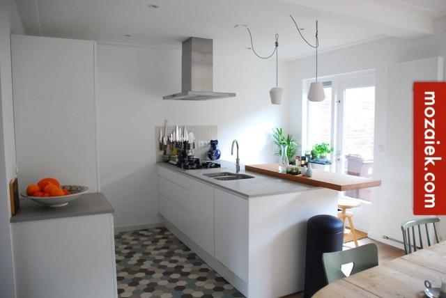 Hexagon Tegels Badkamer : Keukenvloer met hexagontegels tegels voor herenhuizen jaren