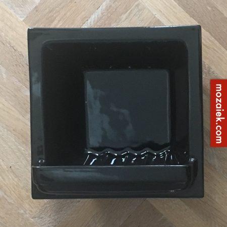 ZB-zwart Zeepbakje amsterdamse school 151x151x60