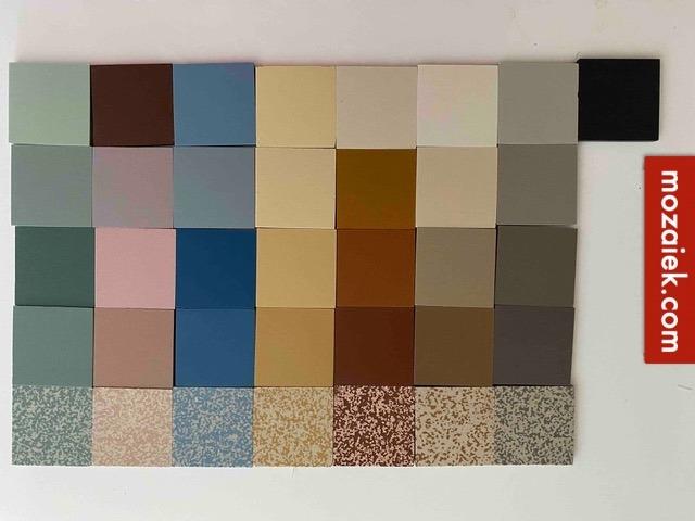dubbelhardgebakken tegels door en door gekleurd