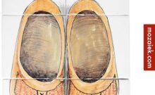 besteld bij mozaiek.com handgeschilderd tableau