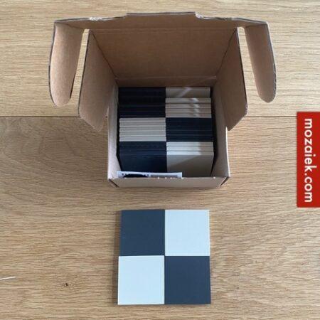 zwart wit dambord GOOTSTEENTEGELS 5x5cm (5mm) voor herstel grootmoeders gootsteen incl.verzendkosten 15 wit 15 zwart